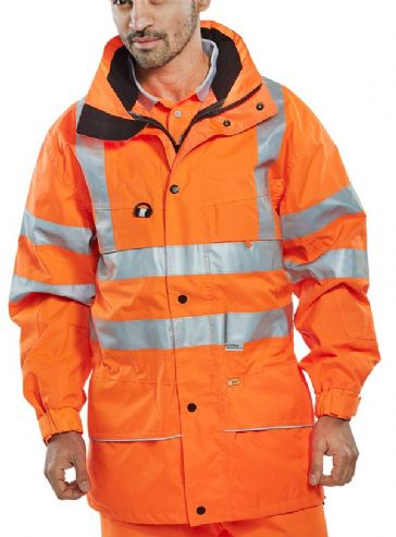 Be Seen Waterproof Hi Vis Carnoustie Jacket